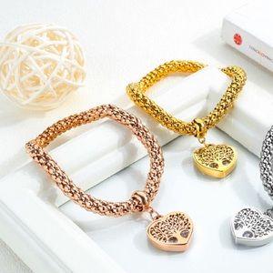Stainless Steel champagne gold heart bracelet